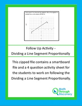 Geometry:  Follow Up Activity - Dividing a Line Segment Proportionally