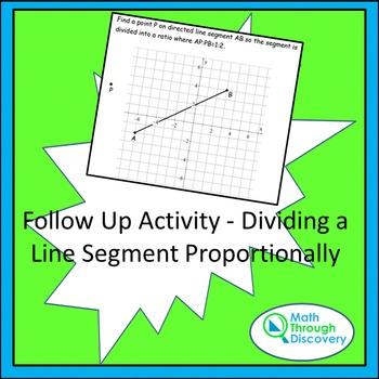 Follow Up Activity - Dividing a Line Segment Proportionally
