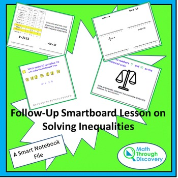 Algebra I: Follow Up Lesson on Solving Inequality Statements