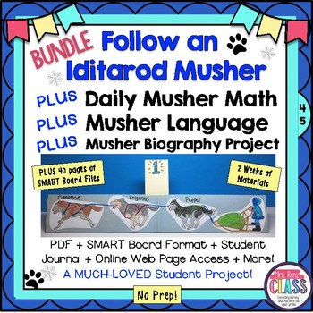 Iditarod Musher Math and Language Plus Biography Follow a