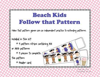Follow that Pattern- Beach theme