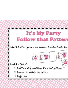 Follow that Pattern- Party  theme