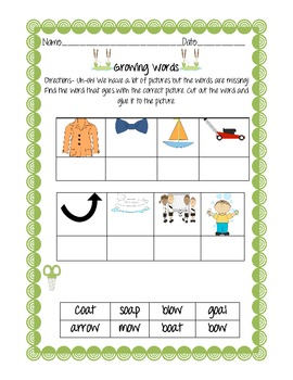 Follow that Toad! OA and OW vowel digraph fun!