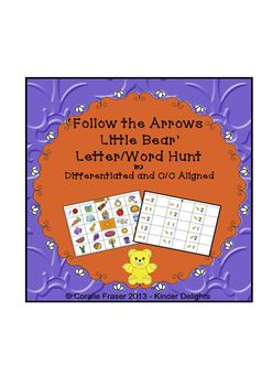 'Follow the Arrows Little Bear' Letter/Word Hunt Differentiated & C/C Aligned