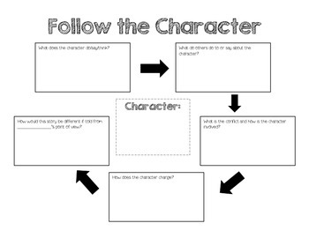 Follow the Character Graphic Organizer