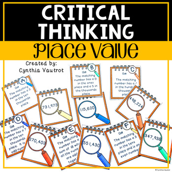 Place Value!  Critical Thinking!