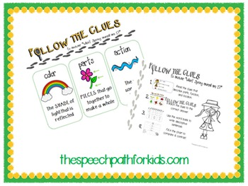 Follow the Clues: SPRING {A Descriptive Language Game}