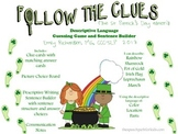 Follow the Clues: St Patrick's Day Edition (A Descriptive Language Game) FREEBIE