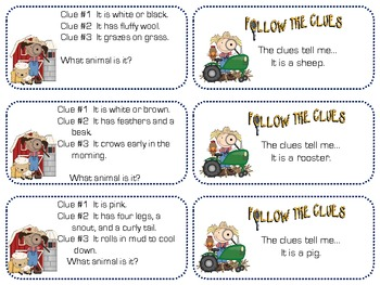 Follow the Clues:Animal Edition (A Descriptive Language Game & Sentence Builder)