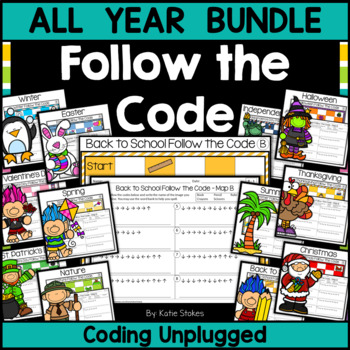Follow the Code (Coding Unplugged) - ALL YEAR Bundle