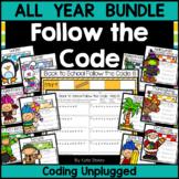 Coding Unplugged - Follow the Code - ALL YEAR Bundle | Pri