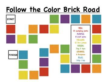 Follow the Color Brick Road