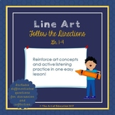 Follow the Directions Line Art Activity with Critical Thinking Questions