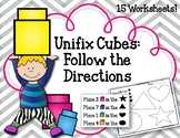 Follow the Directions. Linking Cubes. Interlocking Countin