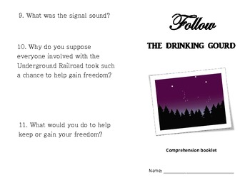 Follow the Drinking Gourd -11 pages