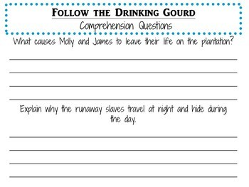 Follow the Drinking Gourd by Jeanette Winter:    A Complete Literature Study!