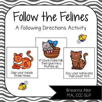 Follow the Felines - A Following Directions Activity