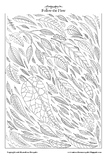 Follow the Flow (leaves) - Printable Colouring Page for Ad
