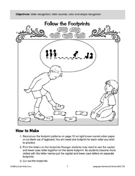 Follow the Footprints (letter recognition/letter sounds)