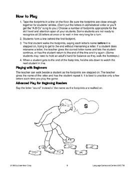 Follow the Footprints (letter recognition/letter sounds)