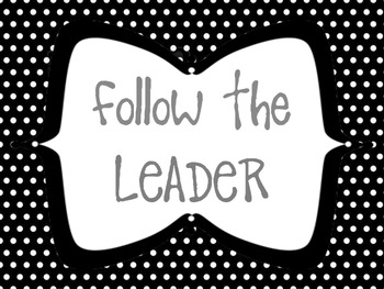 Follow the Leader Behavior Clip Chart Bundle Pack- Chevron and Polka Dot