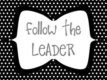 Follow the Leader Behavior Clip Chart Bundle Pack- Chevron