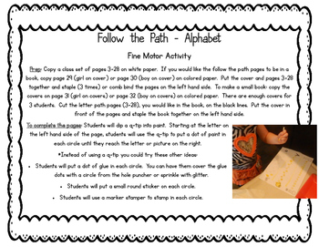Follow the Path-Alphabet (A Fine Motor Activity)