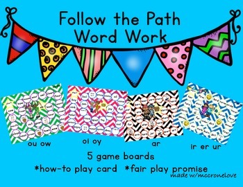 Letter Combinations {Follow the Path: IR UR ER AR OU OW OI OY}