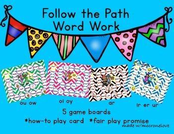Letter Combinations {Follow the Path: IR UR ER AR OU OW OI OY}