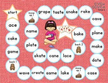 Long Vowel Patterns {Follow the Path} Bossy e CVCe CCVCe