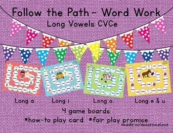 Long Vowel Patterns {Follow the Path} Bossy e CVCe CCVCe