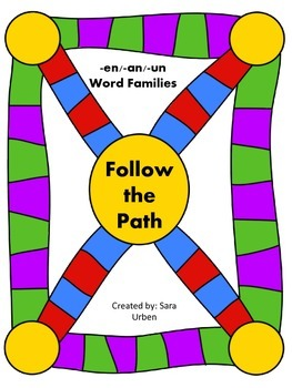 Follow the Path: -en/-an/-un Words