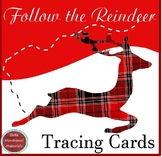Follow the Reindeer - Holiday Tracing Cards