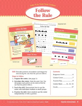 Follow the Rule (Take It to Your Seat Centers Common Core Math)