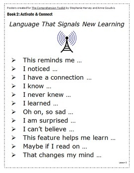 Follow the Signposts; Comprehension Toolkit Posters
