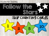Follow the Stars Skip Counting Cards