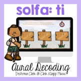 Follow the Trail Google Slide Game for Melodic Dictation: ti