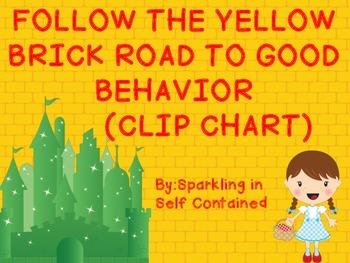 Follow the Yellow Brick Road Behavior Chart