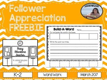 Follower Appreciation FREEBIE March 2017: Word Work