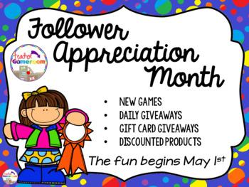 Follower Appreciation Month!