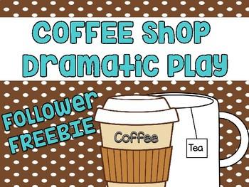 Follower FREEBIE - Coffee Shop Dramatic Play