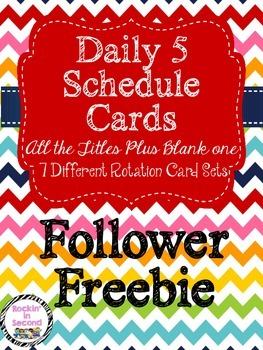 (Follower FREEBIE) Daily 5 Titles & Rotation Cards