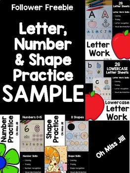 Follower FREEBIE - Letter, Number, Shape Practice