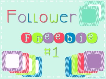 Follower Freebie #1~Chevron Accent Frames C.U. Okay!