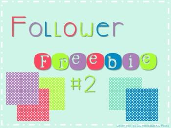 Follower Freebie #2 Dot Paper C.U. Okay!