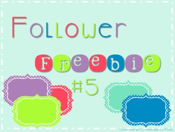 Follower Freebie #5 Fun Frames C.U. Okay