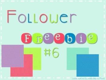 Follower Freebie #6~Pin Dot Papers C.U. Okay!
