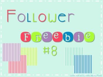Follower Freebie #8~Stripe Paper C.U. Okay!