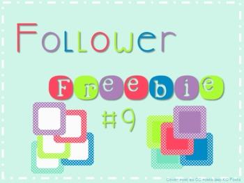 Follower Freebie #9~Dot Frames C.U. Okay!