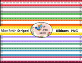 Follower Freebie Striped Satin Ribbons (Digital Ribbons for Commercial Use)